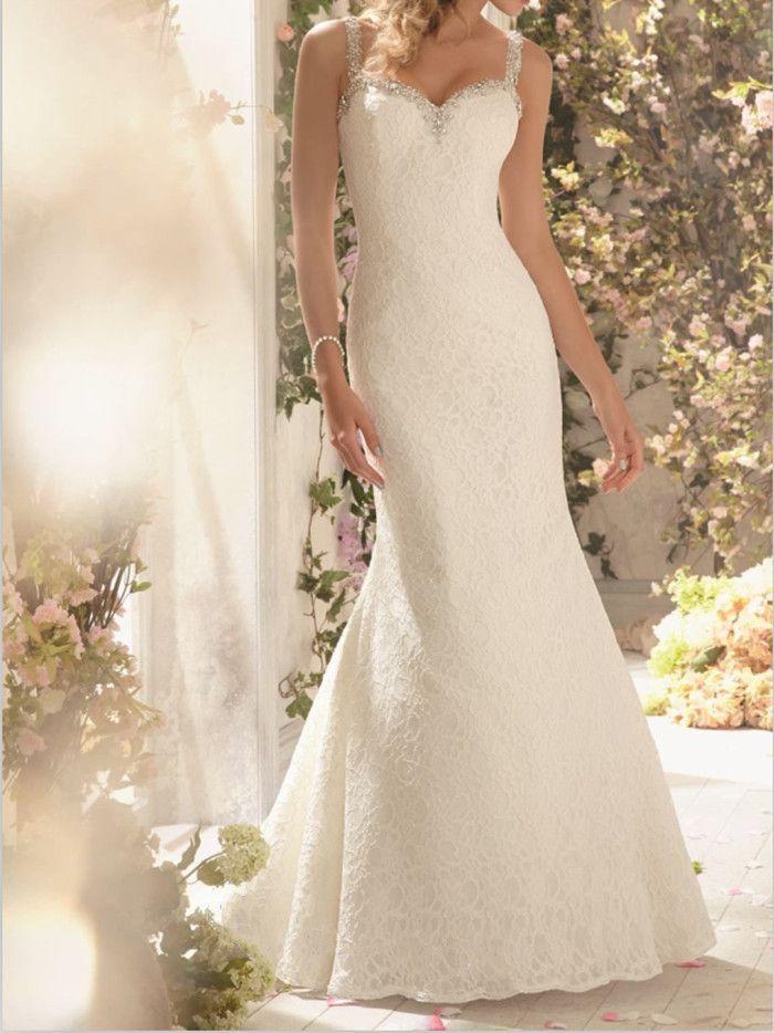 Купить товарВ продаже бесплатная доставка русалка обертывание кружева кристалл спагетти ремень спинки часовня поезд свадебное платье свадебное платье Vestido де Novia в категории Свадебные платьяна AliExpress.                             Добро пожаловать в наш магазин