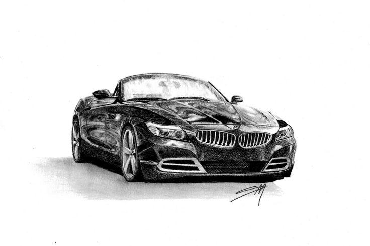 how to draw bmw car