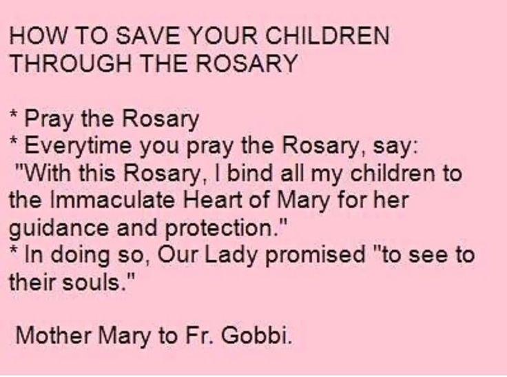 Saving your children through praying the rosary