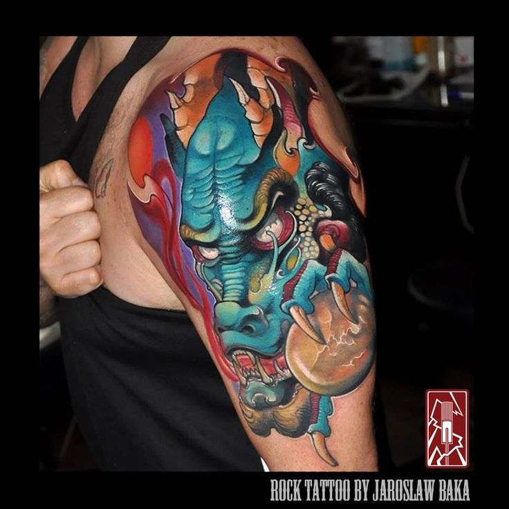 Dragon Tattoo Done by Jaroslaw Baka  https://www.facebook.com/jaroslawbakatattoos https://instagram.com/jaroslawbaka/