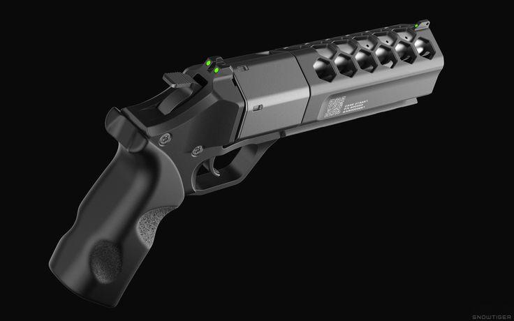 ArtStation - KARA 21 Revolver Concept, Alex Khaliman | Snowtiger