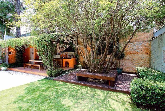 Quintal dos sonhos banco na jaboticabeira e pergolado na for Paginas para decorar casas