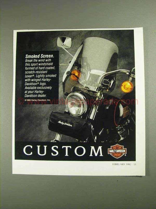 1992 Harley-Davidson Sport Windshield Ad, Smoked Screen