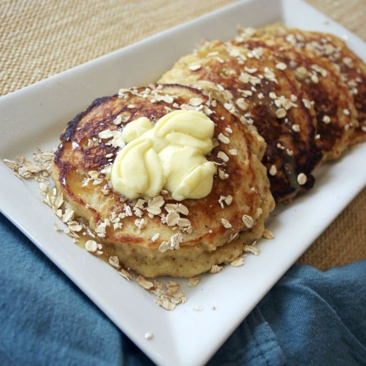 Honey Oat Pancakes with Honey Butter Syrup recipe on Food52