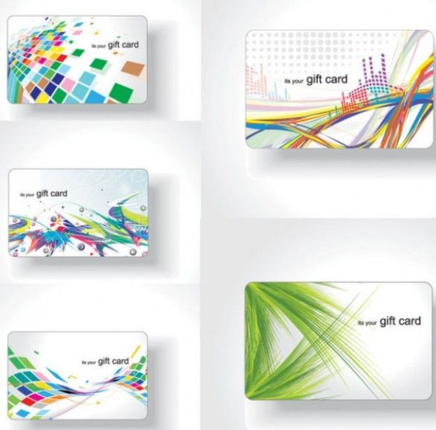 19 best business cards images on pinterest business cards carte 5 attractive and colorful abstract gift card vector set reheart Gallery