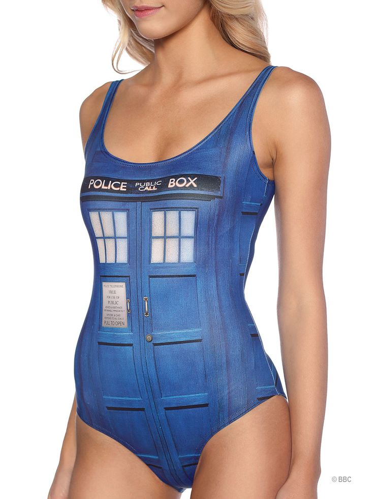 Tardis Swimsuit (WW ONLY $100AUD) by Black Milk Clothing