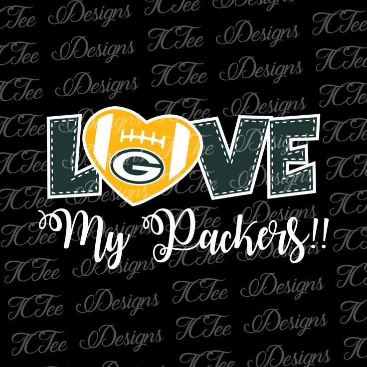 Love My Packers - Green Bay Packers - Football SVG File - Vector Design Download - Cut File by TCTeeDesigns on Etsy