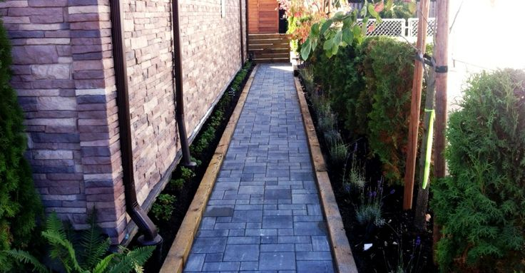 Cool Walkway with pavers by BeaverLandscape.com