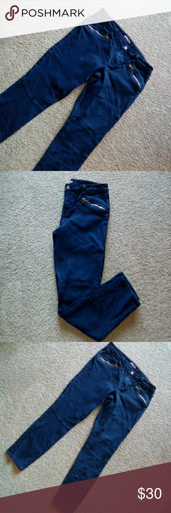 Tommy Hilfiger denim jeans Tommy Hilfiger denim jeans. In size 14. Waist 37 inches. Rise 9 inches. Length 29 inches. Skinny leg. Beautiful Tommy Hilfiger dark denim jeans with gold zipper pockets in front and a denim patch design over knees. In great condition. Tommy Hilfiger Jeans