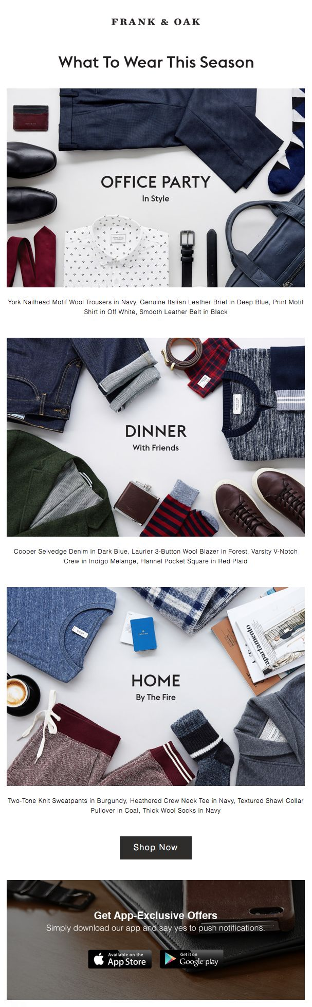 Frank & Oak : Outfitting
