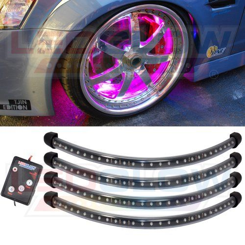 Scion Tc Mods >> 4pc Pink Flexible LED Wheel Well Fender Light Kit LedGlow ...