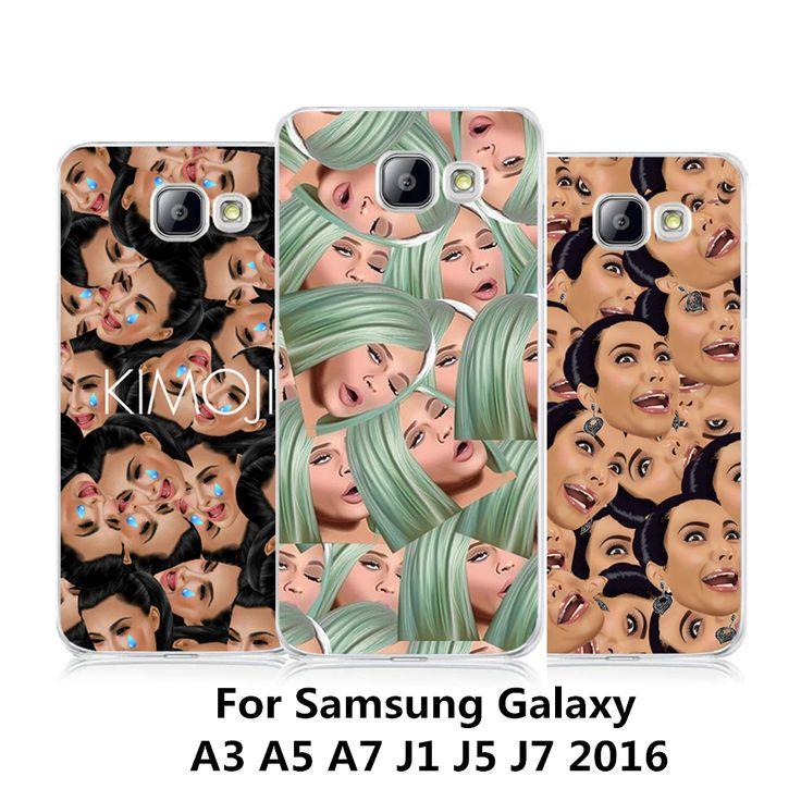 Funny Kim Kardashian Crying Face Emoji Case For Samsung Galaxy A3 A5 A7 J1 J5 J7 2016 Transparent PC Back Cover Smartphone Funda #Affiliate