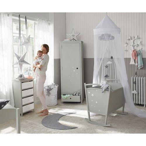 Kinder-Kleiderschrank grau - Songe