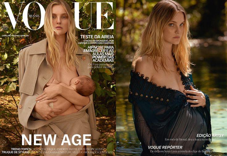 Mãe-modelo: Carol Trentini é a cover girl da Vogue Brasil de setembro