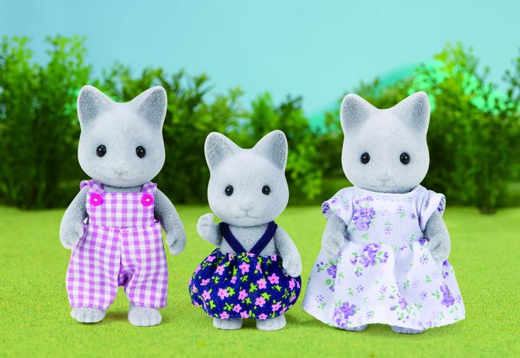 Αν για αρκετή ώρα τα κοιτάξεις, θα σου φανεί πως... σου χαμογελάνε. Grey Cat Family