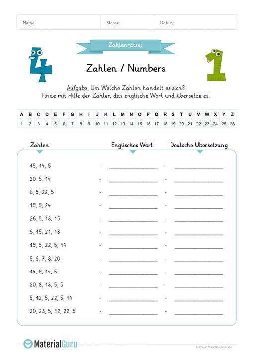 Neu Ein Kostenloses Englisch Arbeitsblatt Zum Thema Zahlen Numbers Fur Die Grundschule Auf Englisch Lernen Englisch Lernen Kinder Englisch Worter Lernen