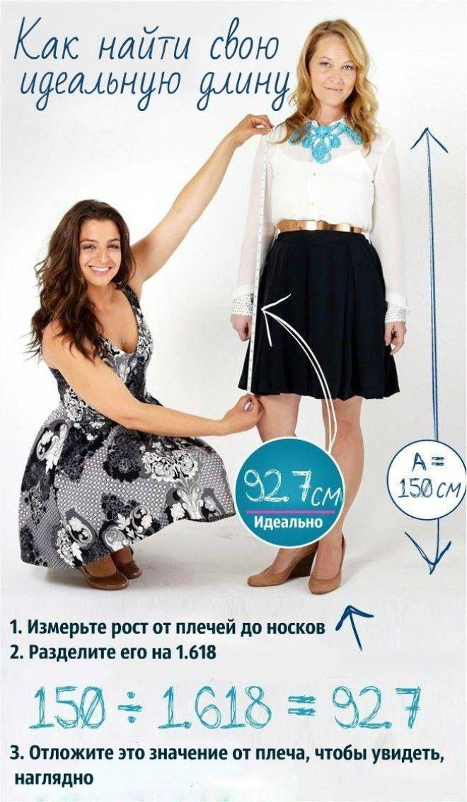 Картинки по запросу как рассчитать идеальную длину юбки