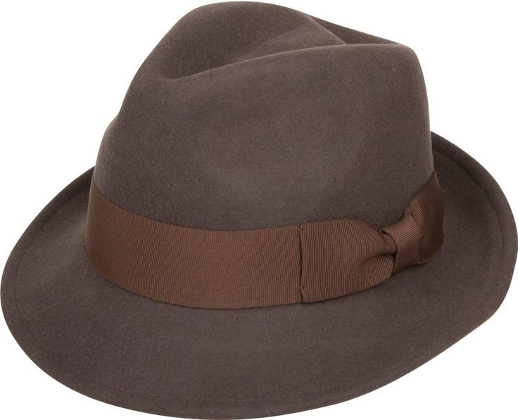 8116a209f61 Sakkas 20EH Clark Grosgrain Bow Wool Trilby Fedora - Brown - L XL ...
