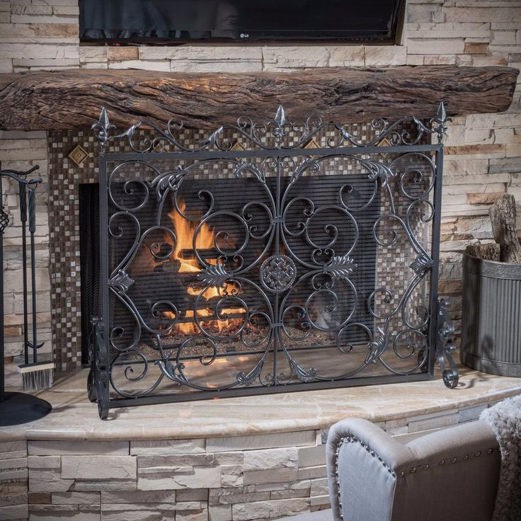 Fireplace Design fireplace grills : Best 25+ Mediterranean fireplace screens ideas on Pinterest