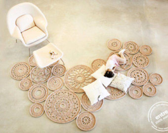 groß skalieren handgemachte modulare häkeln Teppich, ENTRE Sammlung - design n 032, geboren Januar 2014 durch die Hände von ARTSPAZIOS
