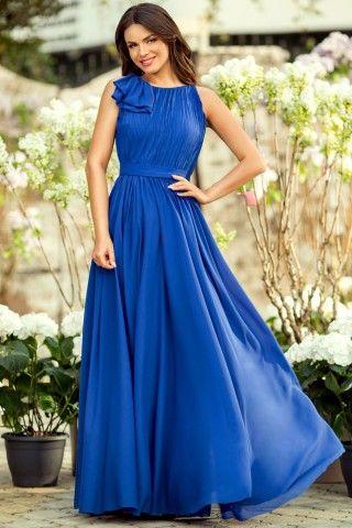 Rochie de seara albastra lunga eleganta