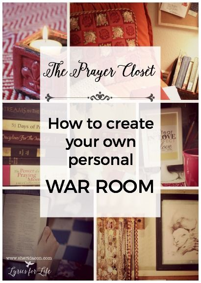 "Want to know how to create your own personal ""war room"" prayer closet? Follow these steps and watch your prayer life grow!"