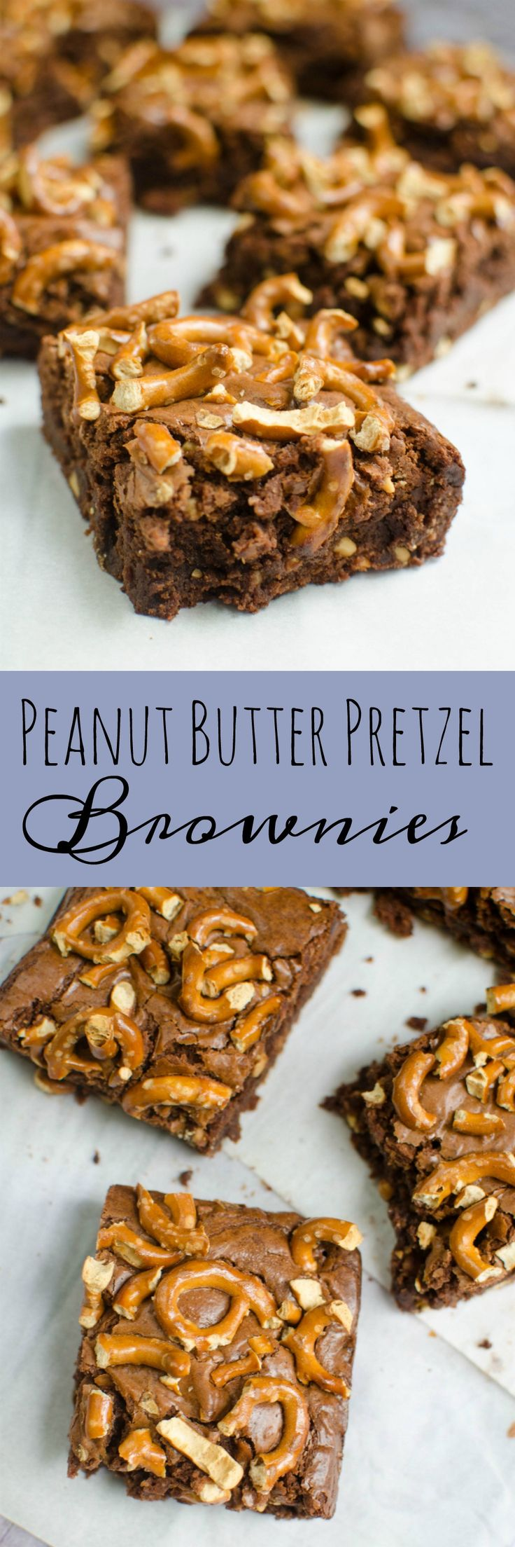 Peanut Butter Pretzel Brownies - the perfect recipe for sweet and salty brownies!