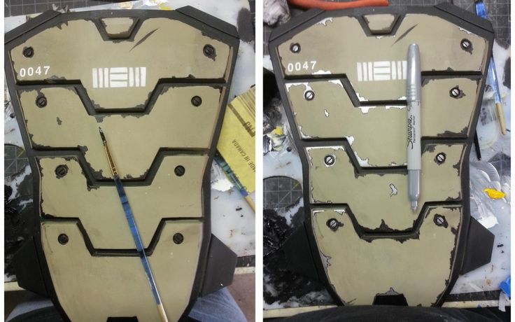 Quick tip for adding weathering to armor and props. This technique is great for creating the look of chipped paint or small scratches. #borderlands