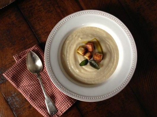 Turnip & Pear Soup at www.injennieskitchen.com