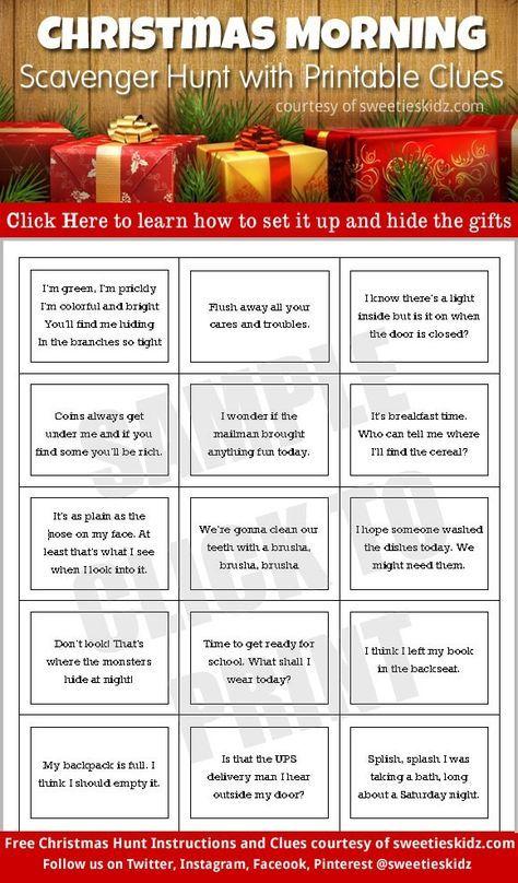 Christmas gift scavenger hunt ideas
