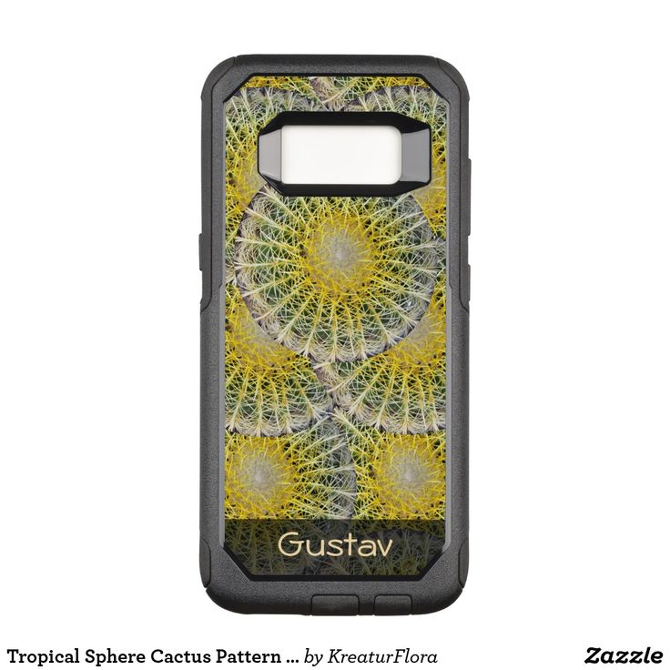 Tropical Sphere Cactus Pattern any Text