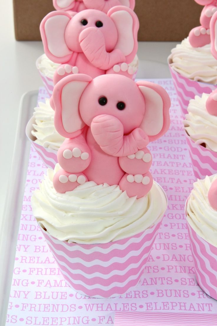 Audrey's Favorite Things Party by Bloom Designs- ELEPHANT TOPPERS BY EDIBLE DETAILS