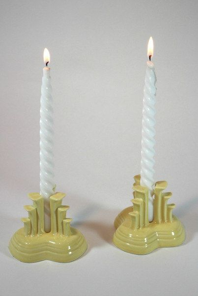 Fiesta Art Deco Candle Holders