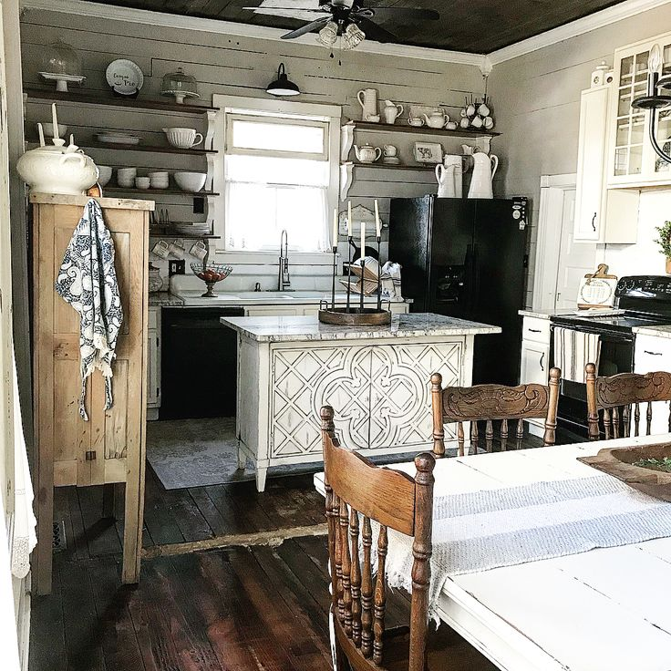 Vintage antique kitchen shabby chic farmhouse