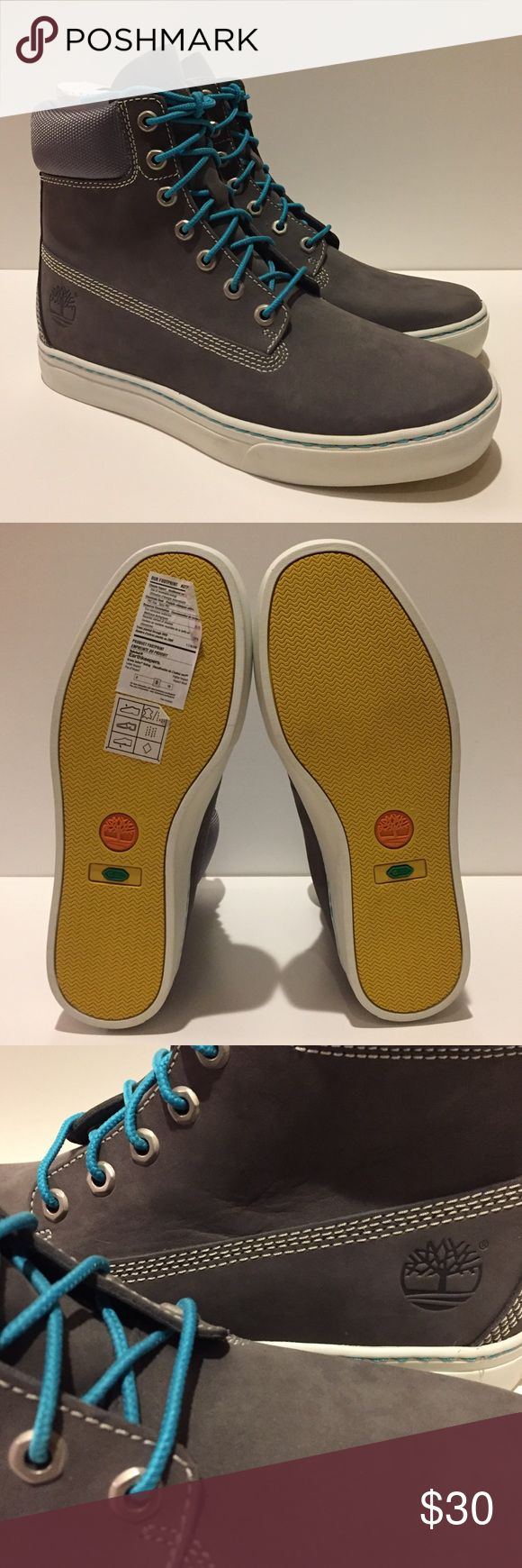 Timberland Earthkeepers Newmarket Cupsole Boot NWOT, never worn outdoors. Fantastic condition and a unique retro look with the yellow sole and bright blue laces. Timberland Shoes Sneakers
