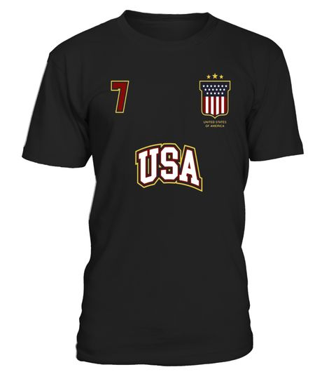 # USA Sports Shirt Number 7 American Team United States Flag .  Special Offer, not available in shops      Comes in a variety of styles and colours      Buy yours now before it is too late!      Secured payment via Visa / Mastercard / Amex / PayPal      H https://www.fanprint.com/stores/teeshirtstudio-fam?ref=5750