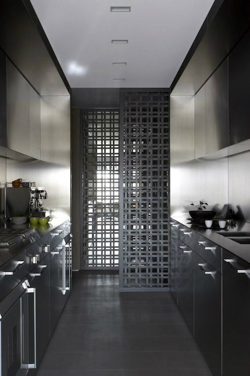 ikea galley kitchen Galley Kitchen Remodel Ideas (Small Galley Kitchen Design, Makeovers, and Plans with Pictures) House, Interior, Home, Sliding Screen Doors, Galley Kitchen Remodel, Kitchen Remodel, Modern Kitchen, Galley Kitchen Design, Kitchen Design