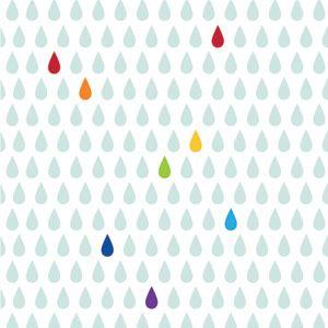 Papier peint Rainbow Petite Pluie Sophie Cordier Lilipinso