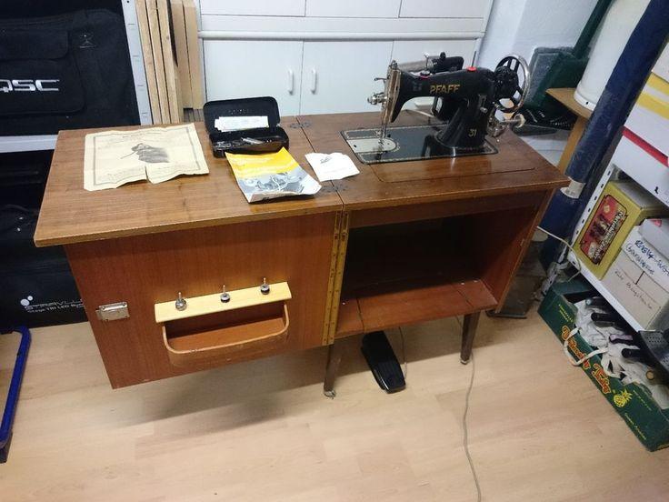 Pfaff 31 N Hmaschine Im Tisch Lampe Und Fu Pedal Inkl