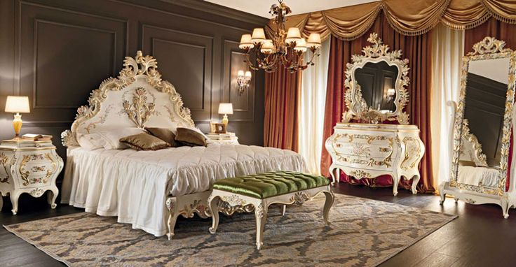 All design aspects of a bedroom should advance comfort and relaxation. As a matter of fact, this should include bedroom furniture. By amalgamating comfort with a deluxe style, you can create a bedroom that invites sleep. This should be your goal. white and gold luxury bedroom venezia furniture