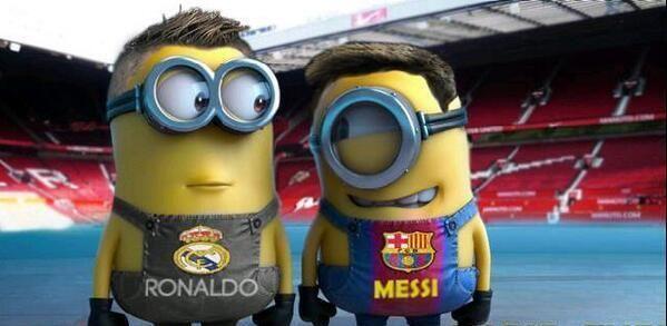Minion de Messi vs Cristiano Ronaldo | miniones, miniones real madrid, miniones barça, messi, cristiano ronaldo
