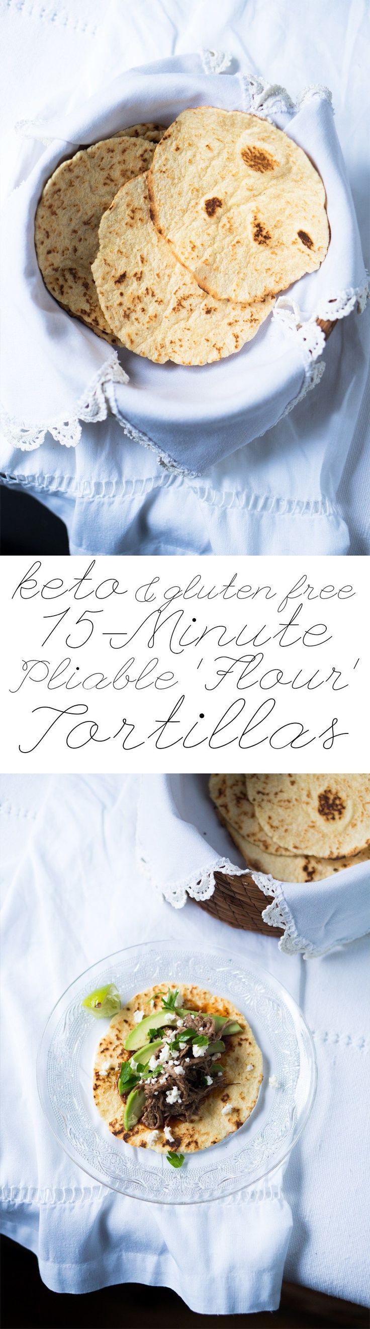 15-Minute Gluten Free & Keto Tortillas  Suuuper pliable, just 1 egg, & 2g net carbs!