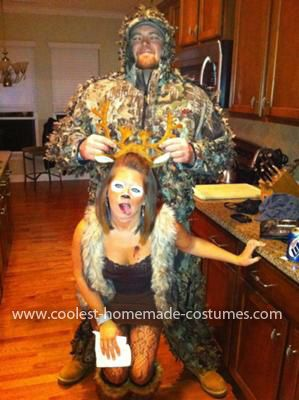 coolest deer and hunter costume - Good Halloween Costumes For Big Guys