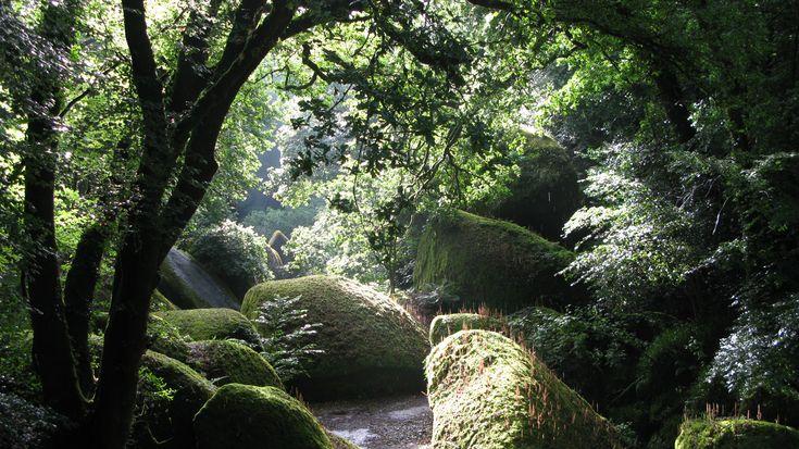 Forêt de Huelgoat, région de Finistère, Bretagne, France.