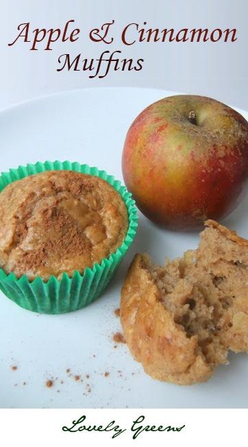 Delicious recipe for homemade Apple & Cinnamon muffins