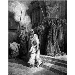 "6"" x 4"" Greetings Card Gustave Dore The Bible Courage Of A Mother"