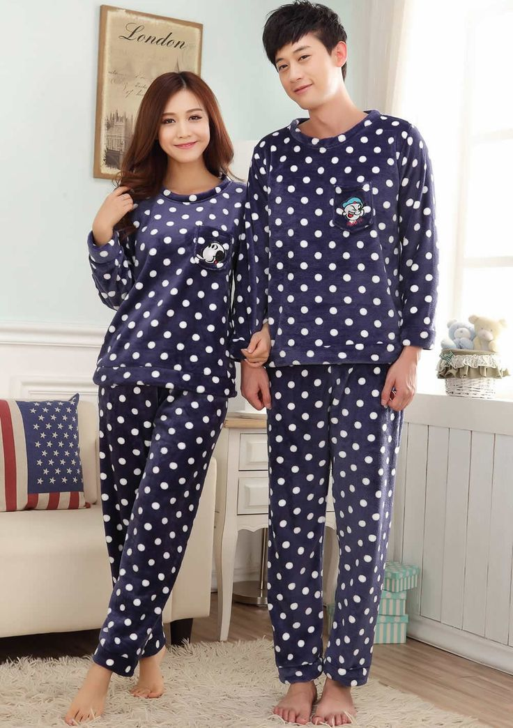 Mink Cashmere Couple Winter Pajama Set