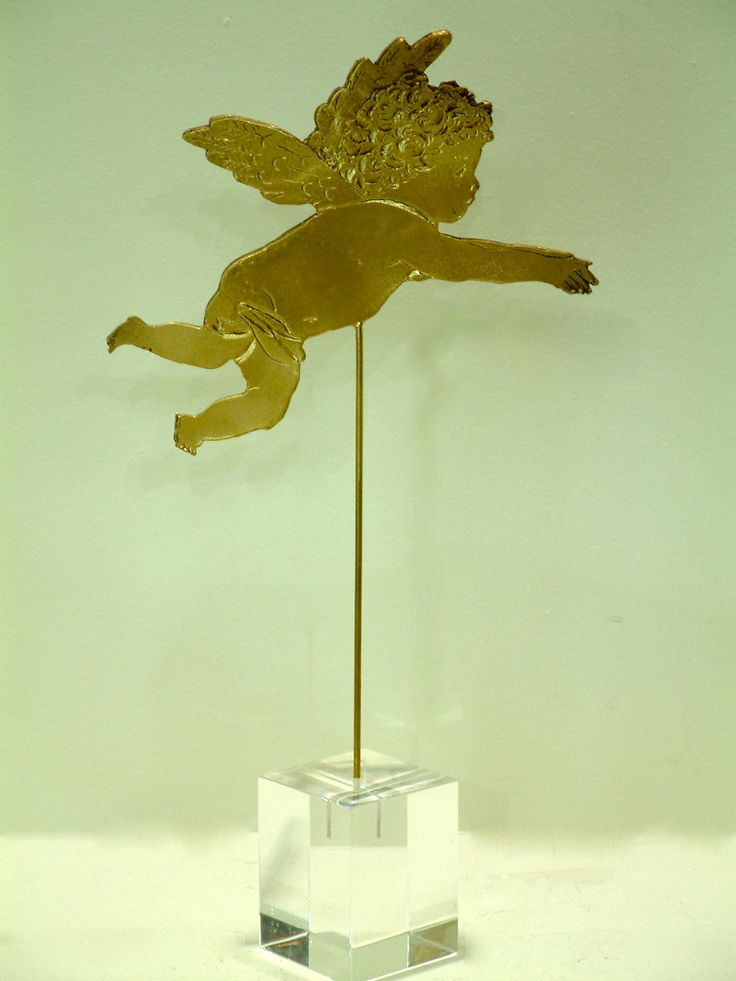Cupid. Casted bronze and perspex.