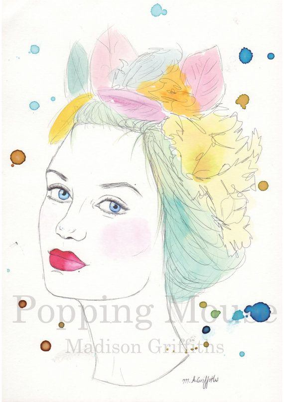 Wings  Original Watercolour Painting by Madison by PoppingMouse