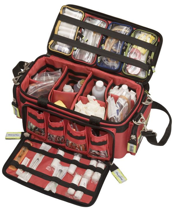EB - Basic Life Support Medical Equipment Bag... the link goes to an ad for a tent...but I like this concept for first aid kit...